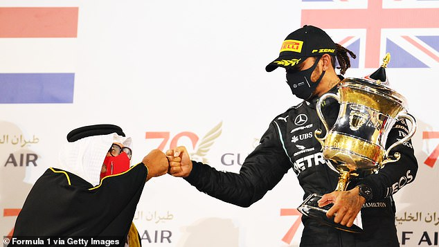 Hamilton tested three times around the Bahrain Grand Prix last weekend - all of them negative