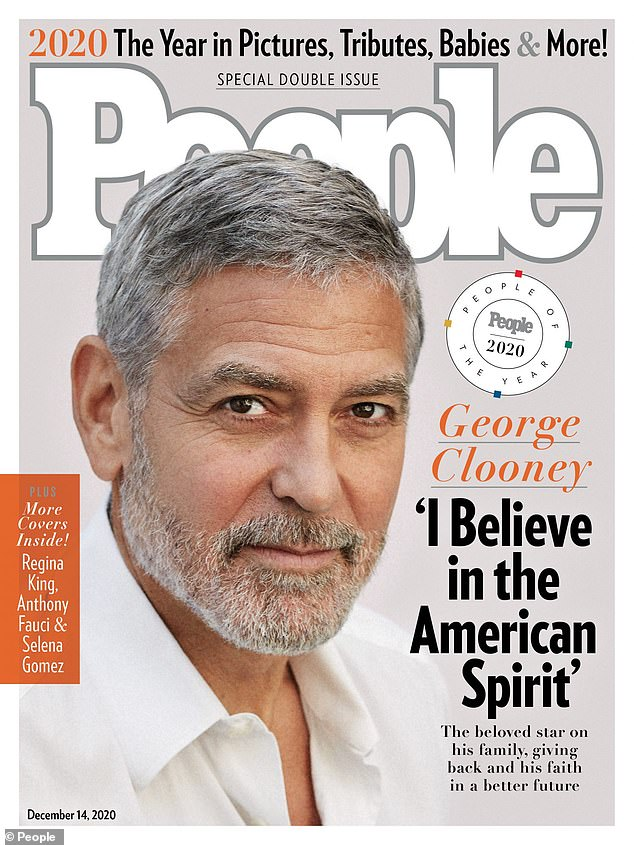 Well done: Clooney was selected from People of the Year magazine in its latest issue
