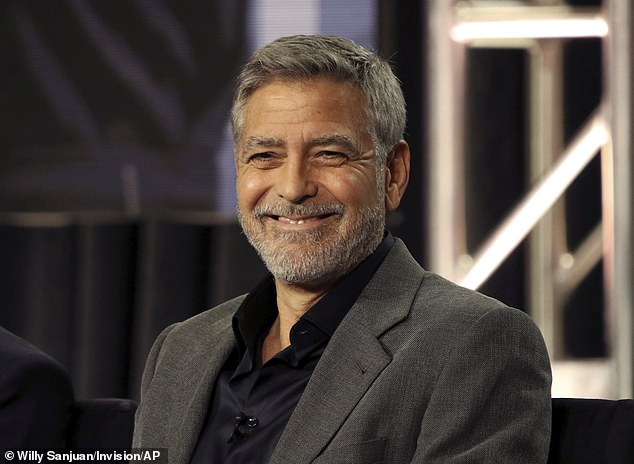 Like-minded: Clooney told People he hasn't yet argued with his wife - with whom he's raising three-year-old twins Alexander and Ella - despite their long time behind closed doors