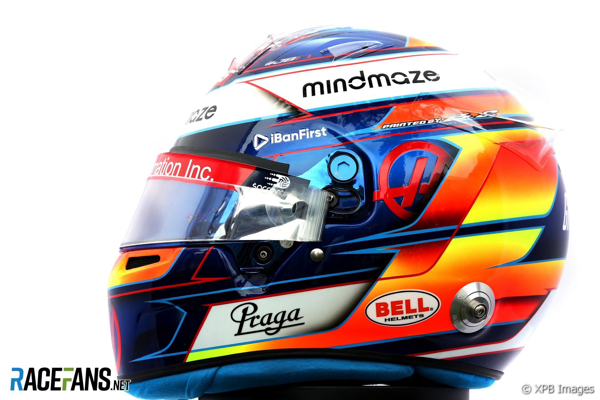 Roman Grosjean helmet 2020