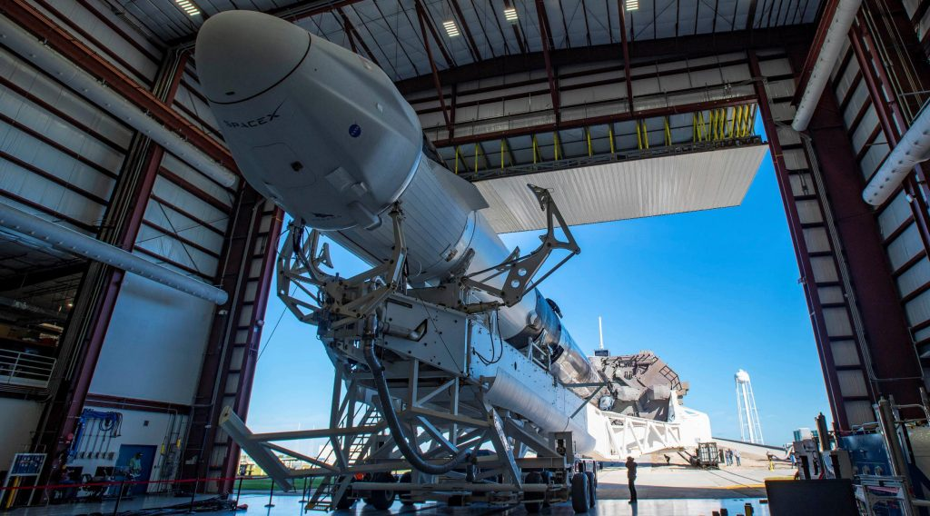 SpaceX Falcon 9 launches ahead of the flagship Cargo Dragon