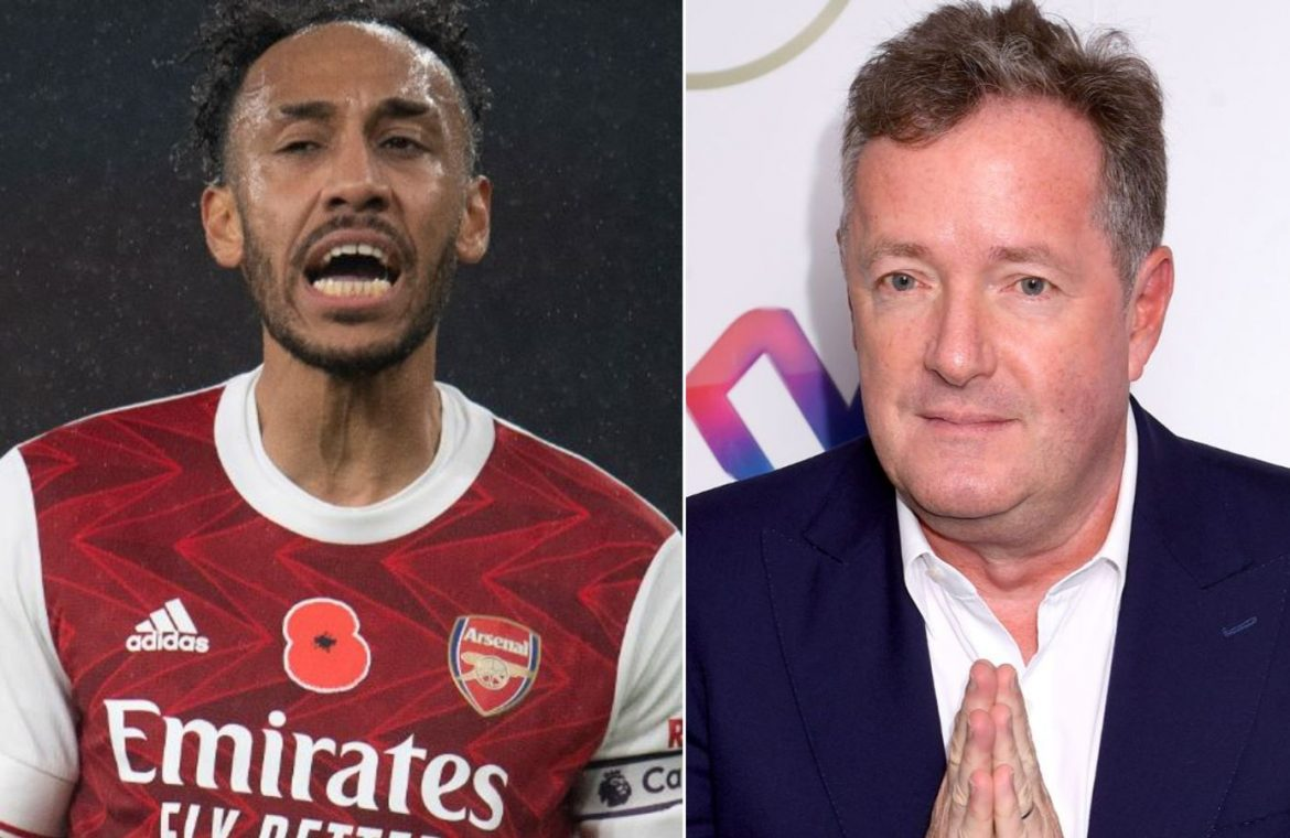 """Pierre Emerick Aubameyang: The body language of the Arsenal captain is """"worrisome"""", Piers Morgan 