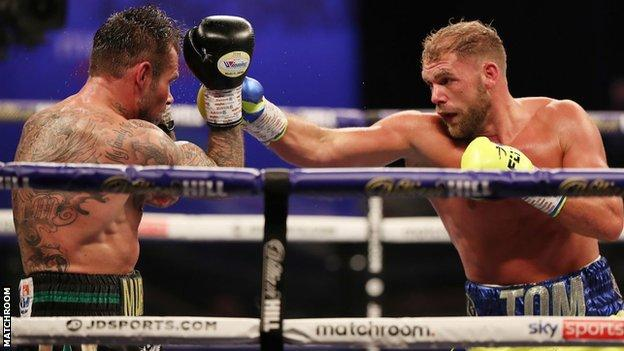 Saunders and Murray were fighting for the first time since November 2019