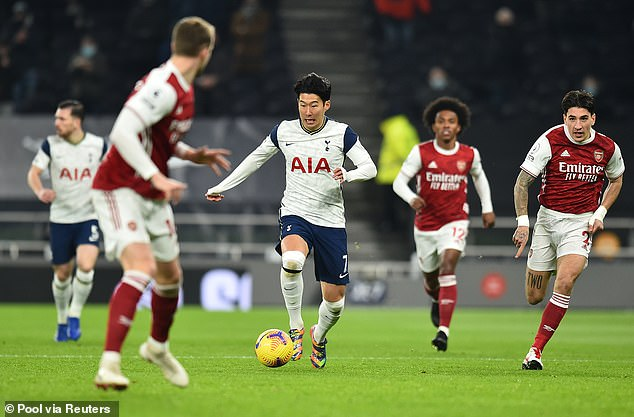 Harry Kane and Son Heung-min scored Tottenham's goals to move up the table