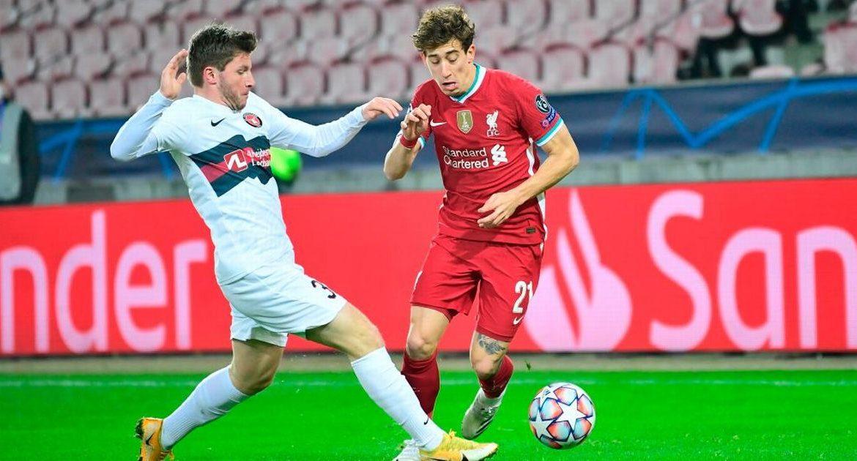 Alberto Moreno offers the perfect Liverpool lesson to Costas Tsimikas