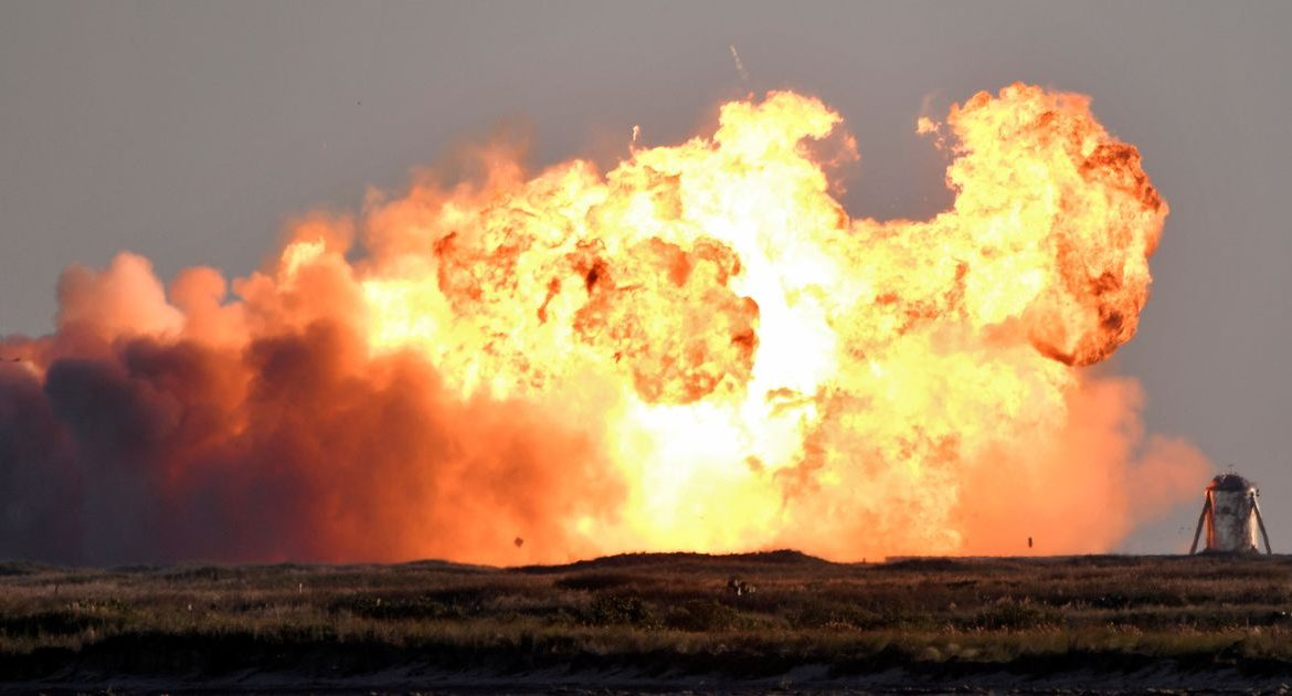 SpaceX Starship's test flight explodes in a fireball upon landing