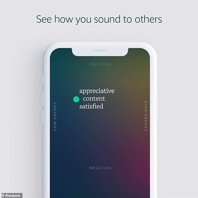 As Halo knows, you start organizing conversations into positive or negative, along with high or low energy.  Example of how AI determines which words to describe tone If a technology records a voice as a passive, low-energy one, it may classify it as