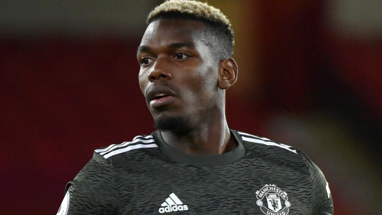 Paul Pogba started consecutive Manchester United matches for the first time since October in a 3--2 victory over Sheffield United.