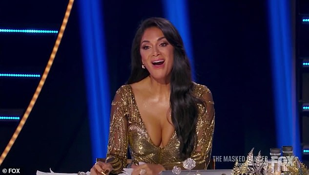 Good guess: Nicole correctly guessed Sun was LeAnn as she was showing off her gold look on the board