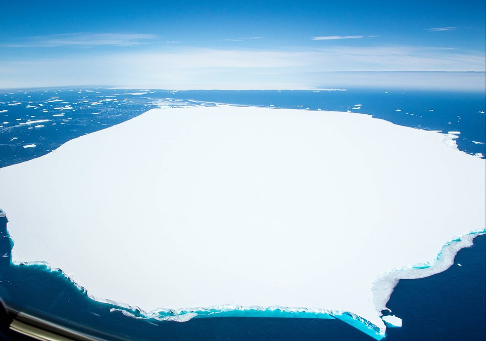 Pictured, the A68d iceberg that broke earlier this week is in the foreground.  It's 54 square miles is roughly the same size as Seville, and in the background is the A68a that it split off from