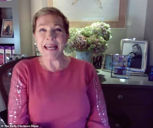 The broadcast began on Christmas morning!  Audiences expressed shock and awe from Dame Julie Andrews' novel, modeled on Gossip Girl, of the Netflix Bridgerton period drama (pictured Nov 4)