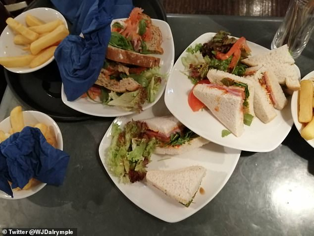Shocked Will shared a photo of three missed meals abandoned by customers who `` only wanted two Morites each '' on Twitter over the weekend.