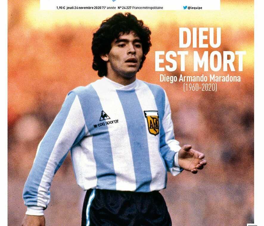 Diego Maradona died.  This is how newspapers from all over the world bid him farewell