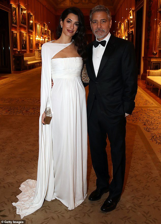 Happy Couple: George Clooney insists that his experience with the global lockdown that began in March has been enriched and toned by the presence of his wife Amal, the glamorous human rights attorney whom he married in 2014