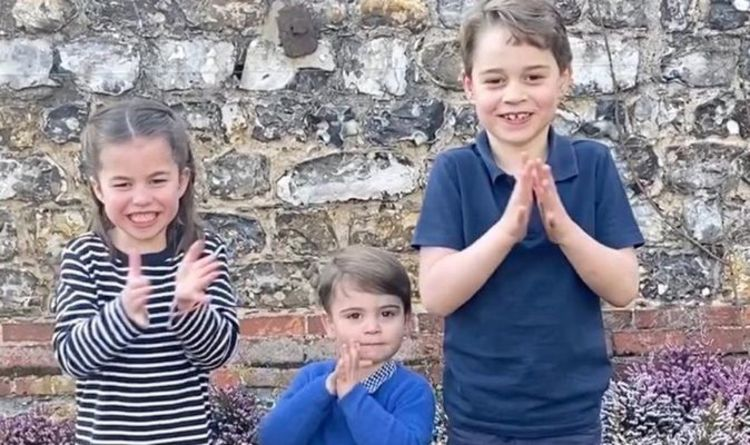 Prince George, Princess Charlotte and Prince Louis in a private family photo | Royal | News