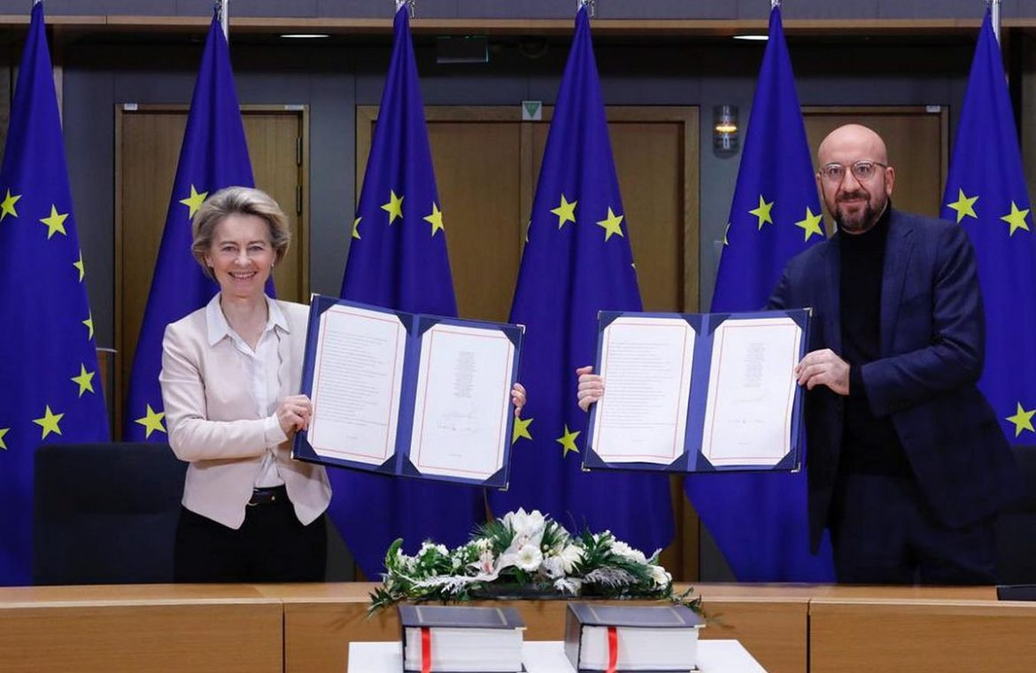 Signing of the European Union agreement with Great Britain.  There will be no difficult exit from the European Union