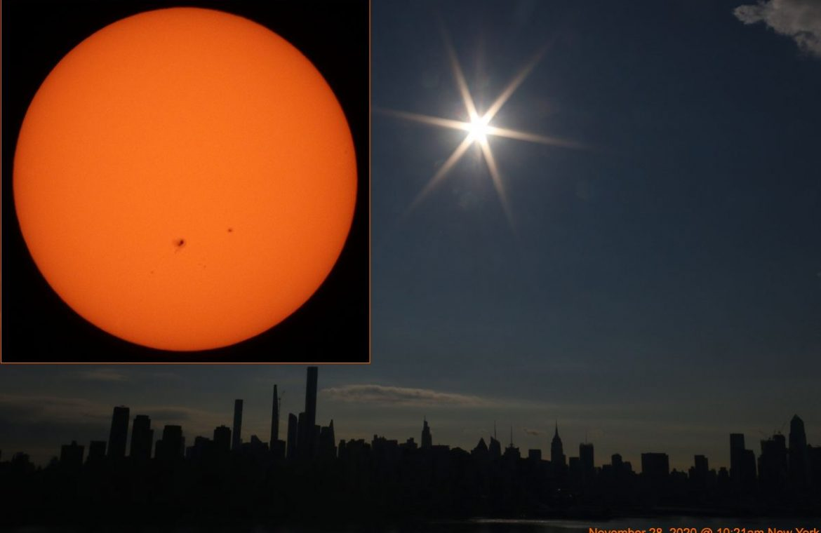 Spotted sun: Our spotted star shines over New York City (photo)