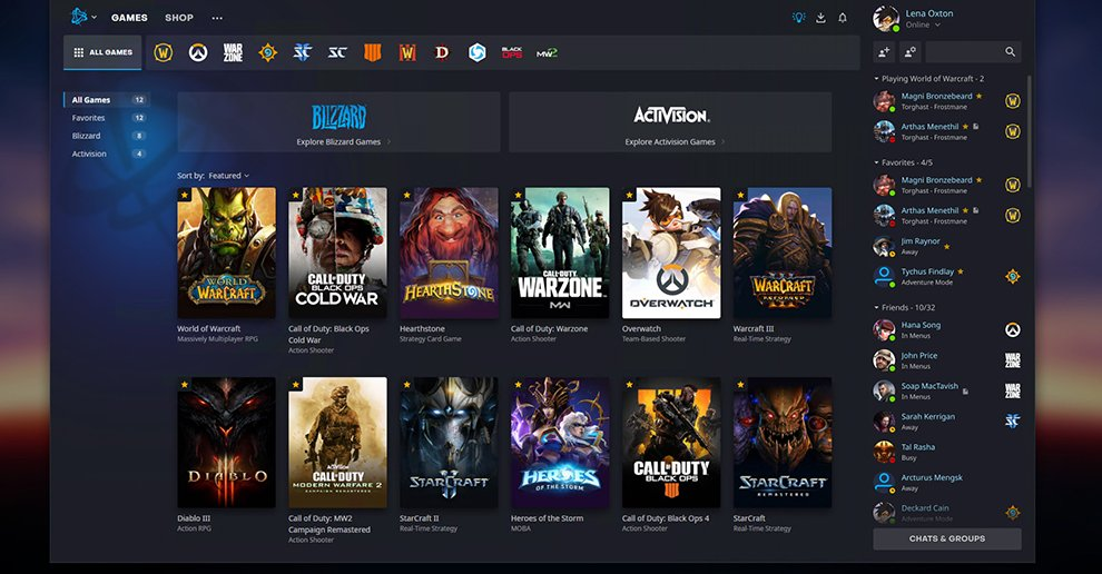 What does a revised Battle.net look like?  Blizzard is refreshing the look of its client