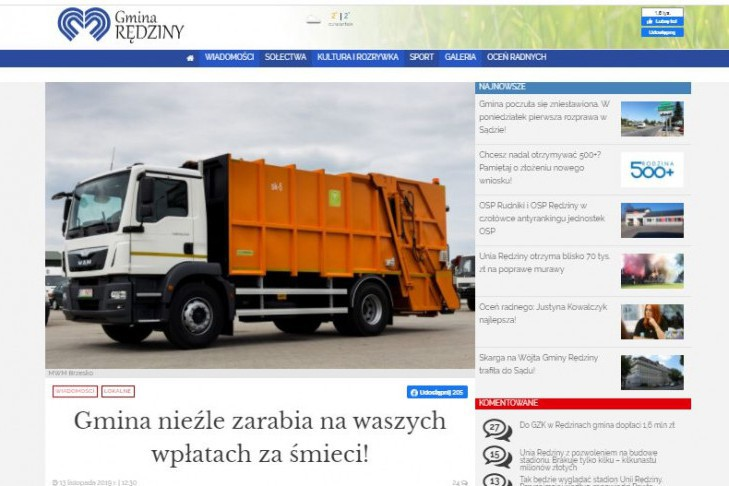Mayor of Rędzin is suing the journalist under Art.  212 of the Penal Code for texts on waste management - Press.pl