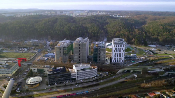 Tracite is under construction.  Peruvian and residential towers in Gdynia