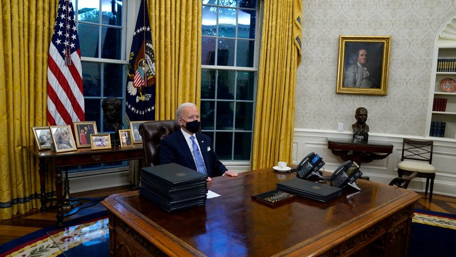 "Biden removed the famous ""red button"" from the Oval Office.  Trump used it to order Coca-Cola"
