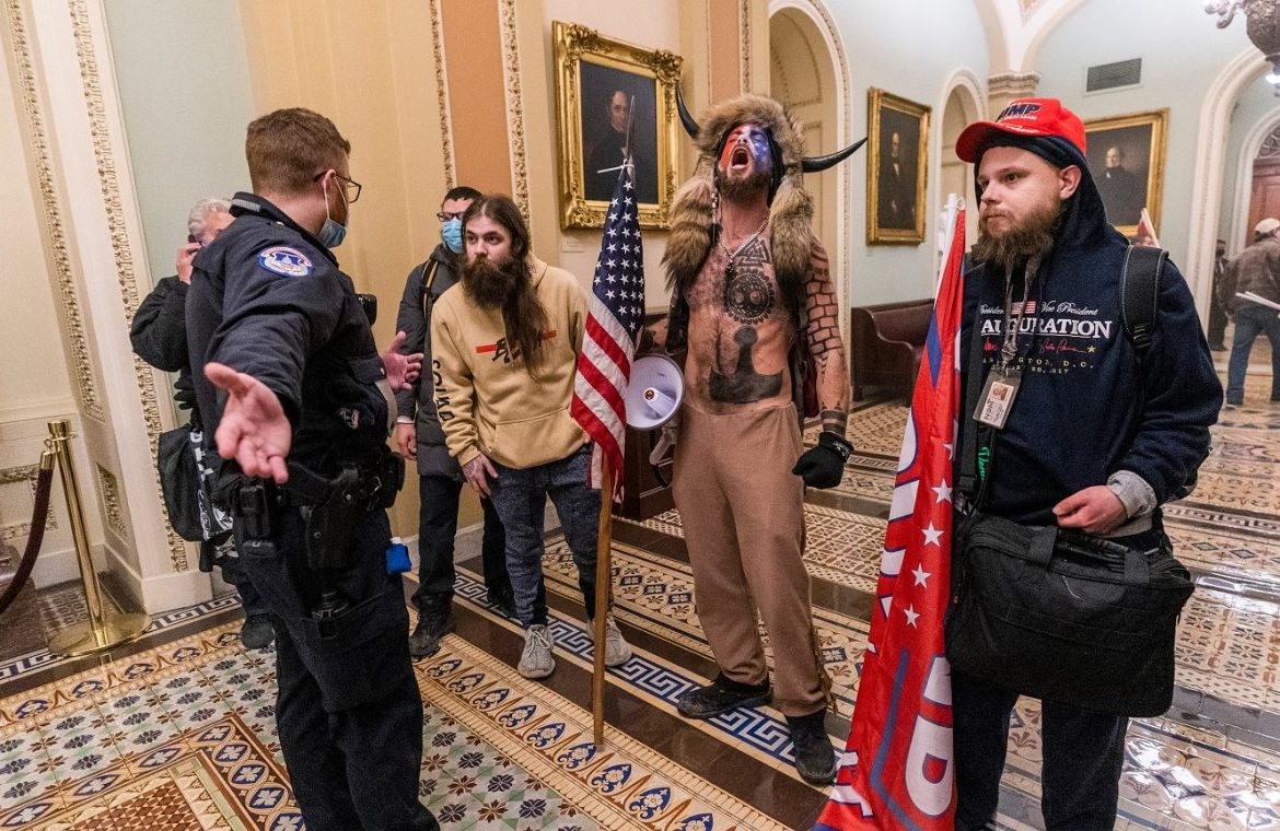 He made his way to the Capitol with furs and horns.  Shaman Qunun, accused of the prosecution  world News
