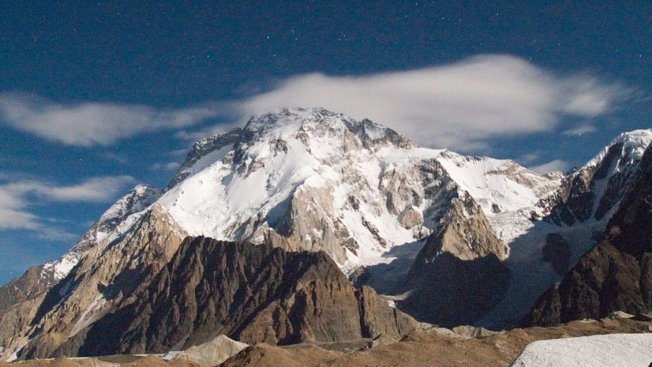 K2.  Rescue operation in Karakoram, the body of a climber was found