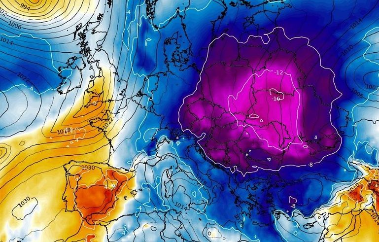 Long-term weather forecast.  Synoptics about the historic winter in Europe