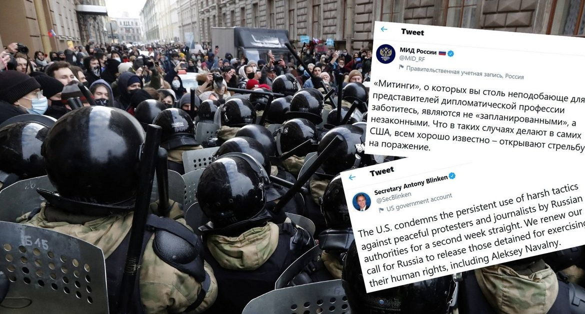 Protests in Russia.  The State Department accuses the United States of encouraging the demonstrations