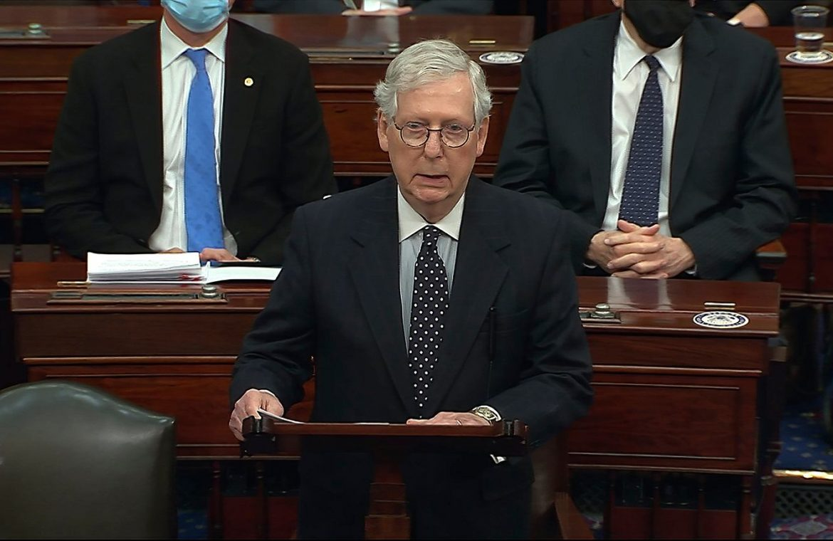 """Republican leader Mitch McConnell officially condemns Trump's actions.  """"Provocative attack on the Capitol"""" 
