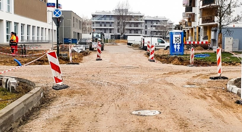 The path and sidewalk will connect the streets.  Major road changes in the new school