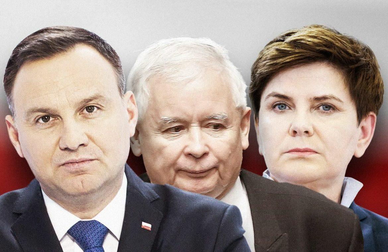 The president is in conflict with Kaczyński.  He is involved with Ziobra and Szydło