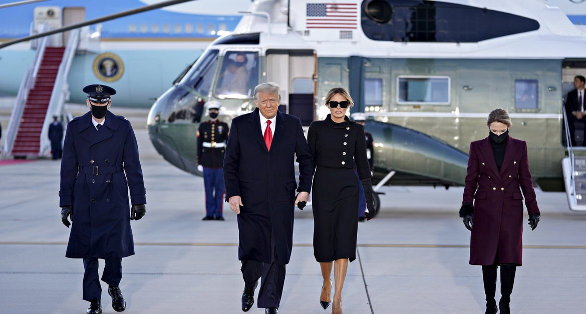 "USA: Donald Trump traveled to Florida.  In the background is ""My Way"" by Frank Sinatra"