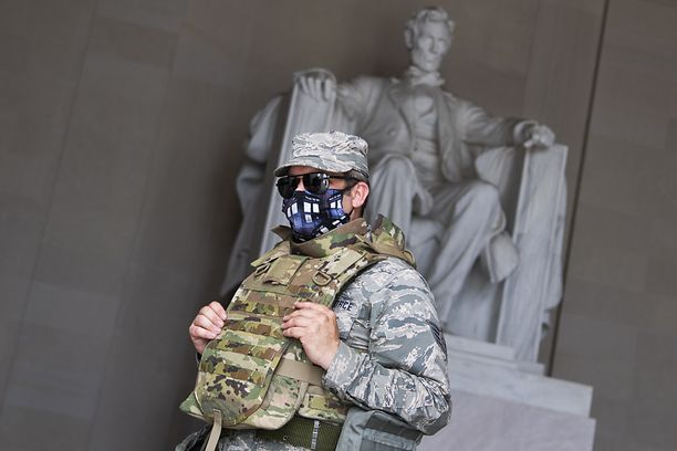 United States of America.  Removing guards from duty to protect Joe Biden's inauguration