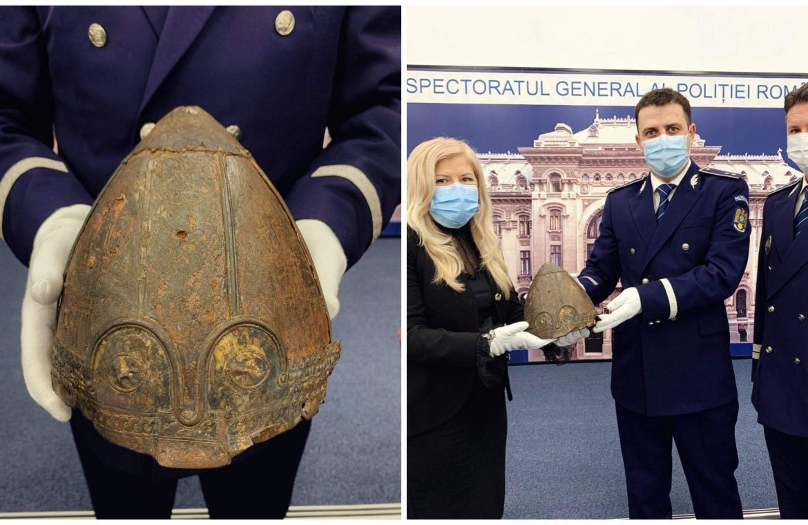 An Unusual Viking Helmet Restored After 10 Years By Service (movie)