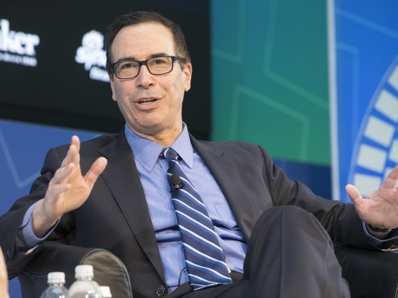 US Treasury Secretary Stephen Mnuchin announced the US withdrawal from global digital tax negotiations.