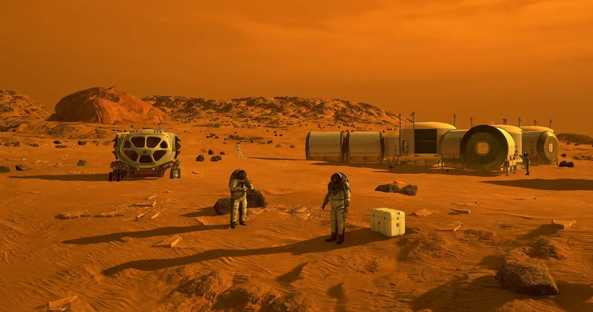 Astronauts on Mars.  What will the connection look like?