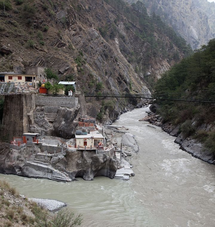 India.  The Himalayan glacier broke through and flooded villages.  Dramatic Recordings