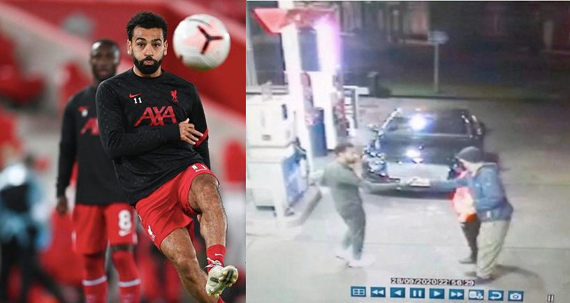 """Salah heroic response at the gas station.  Stand up for the hobo.  Football """"what a legend"""""""