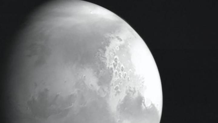The first image of Mars from the Chinese space probe