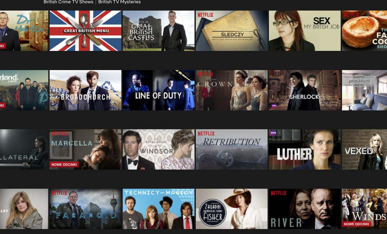 Top 5 British TV Series on Netflix.  We see!