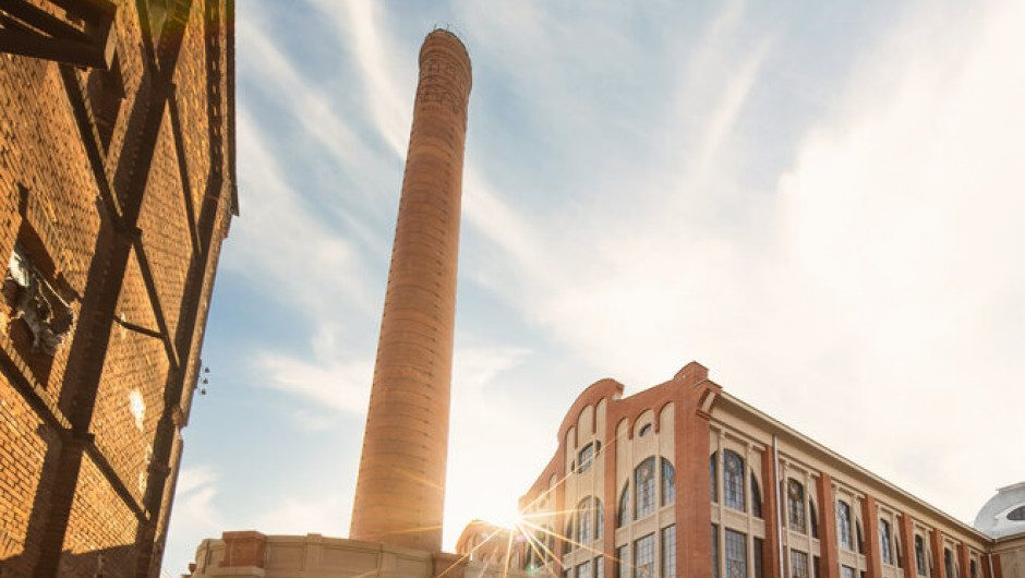 The facade of the historic Scheibler power plant has restored its former splendor