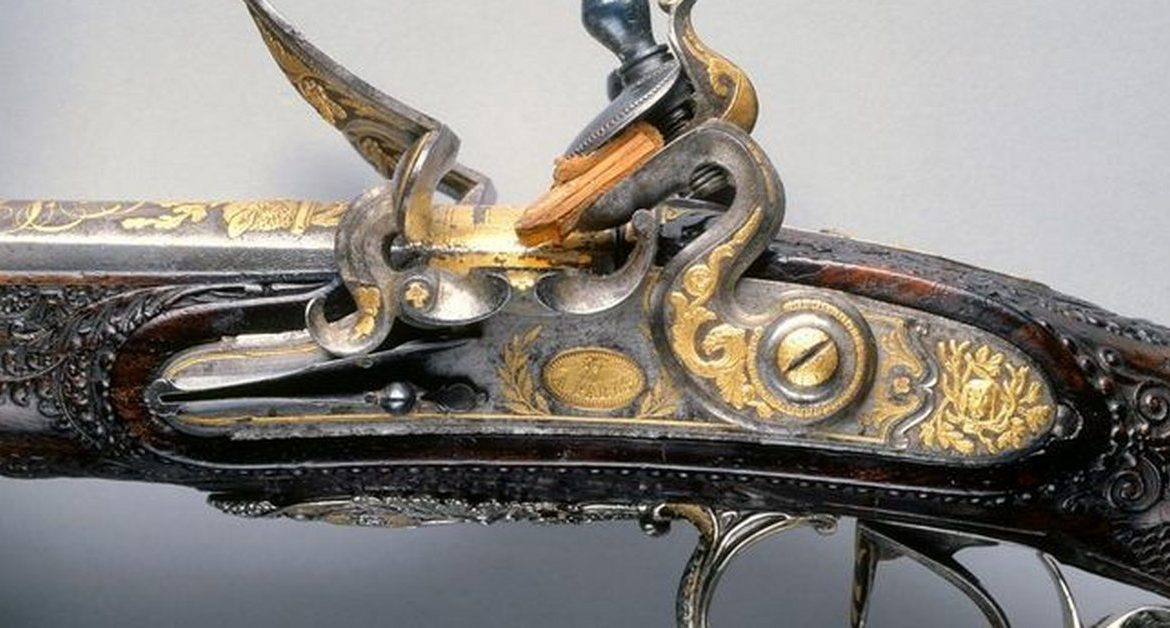 A rifle donated by Napoleon.  Krasiński is found in the USA