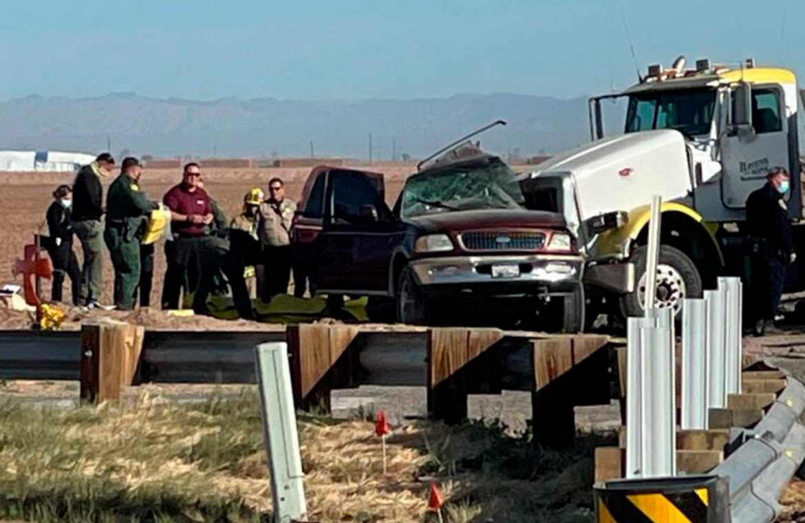 A tragic accident in California.  An SUV with 27 passengers collided with a truck.  At least 15 people were killed  world News