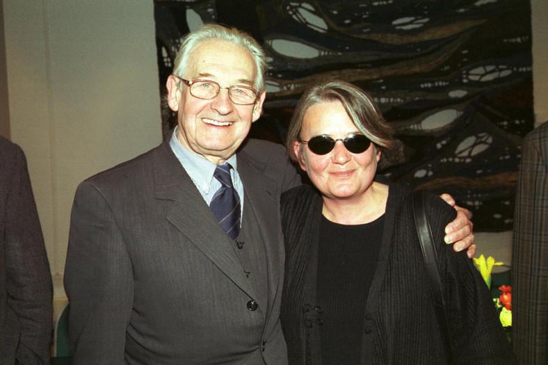 Agnieszka Holland and Andrzej Wajda in 2001