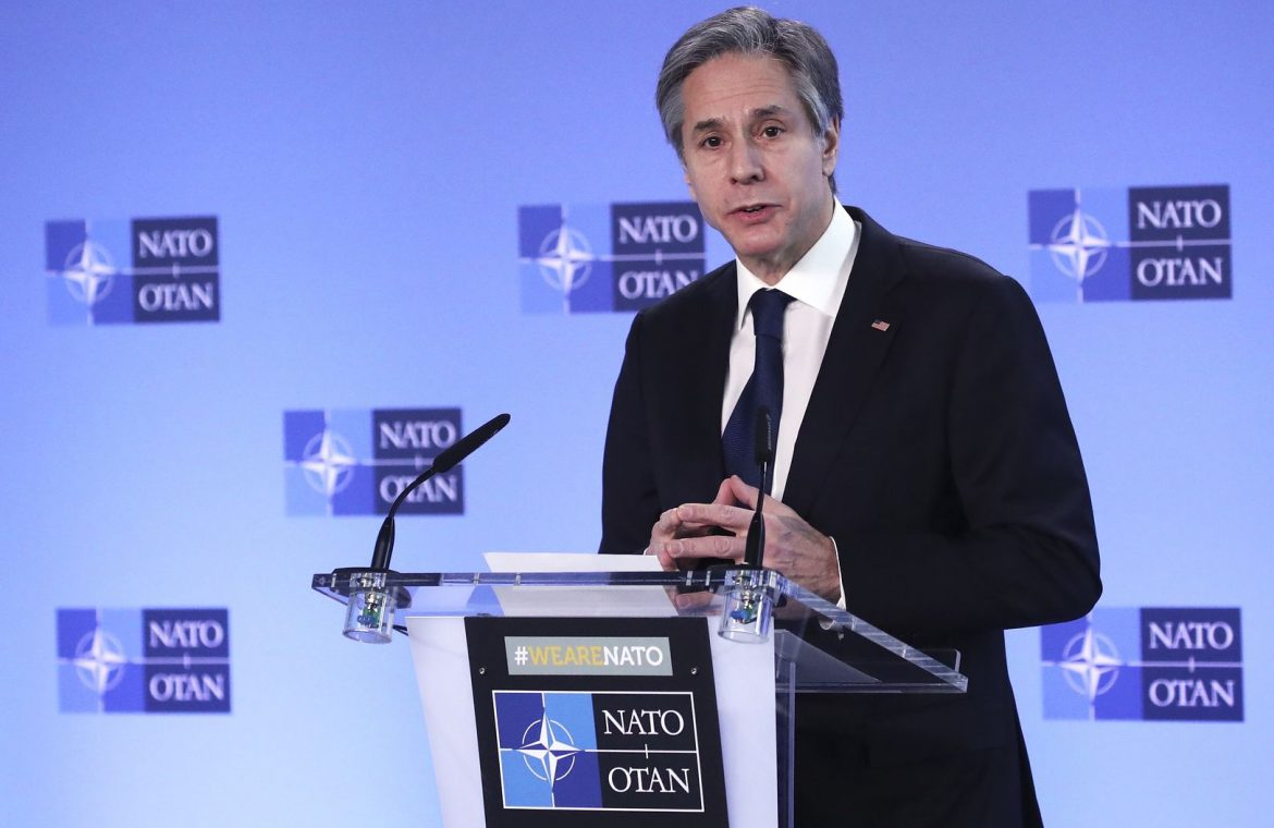 Anthony Blinken in Brussels.  The US Secretary of State has said strongly about Nord Stream 2