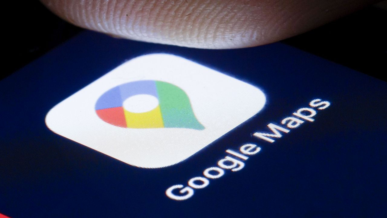Google Maps navigation application
