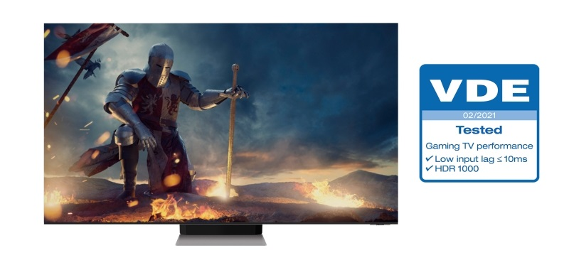 """Samsung Neo QLED are the first TVs certified by VDE """"Gaming TV Performance"""""""