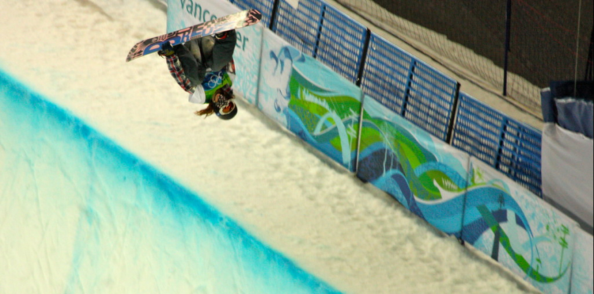 Snowboarding and Freestyle Skiing: The Last Half-Pipe Competition.  Sean Wheat Returns!