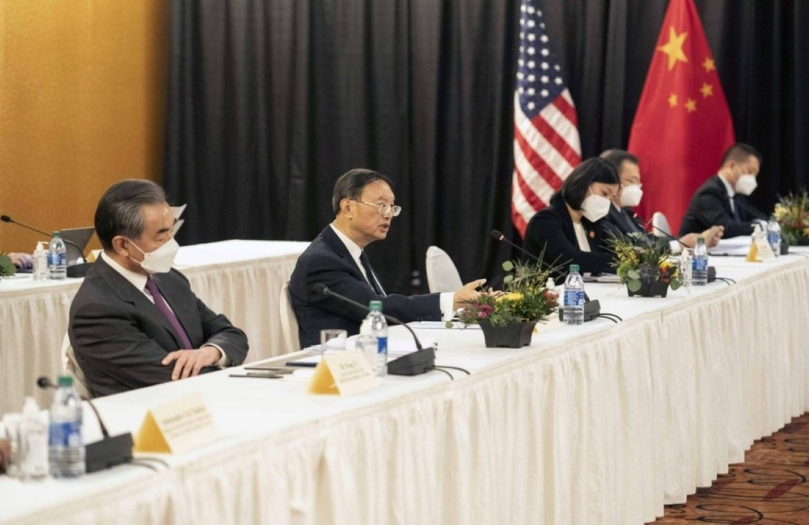 """Stormy weather at the beginning of the US-China summit.  """"We are not looking for a struggle, but we are ready for fierce competition."""""""